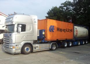 kombinierte 20 ft Container Transporte
