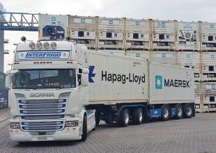 2 x 20 ft Reefercontainer können auf einem Chassis gleichzeitig am Genset angeschlossen werden.