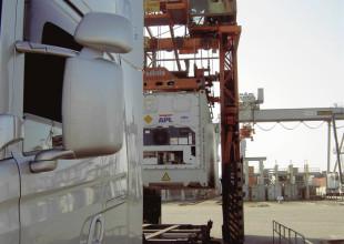 Reefercontainer mit vorgeschriebener Transporttemperatur